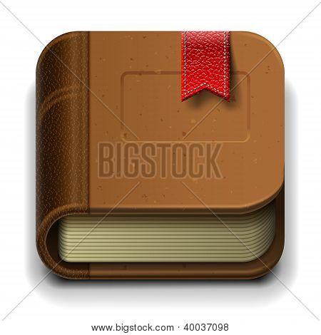 Book icon, vector illustration.