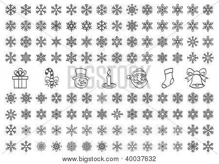 Christmas Snow Icons