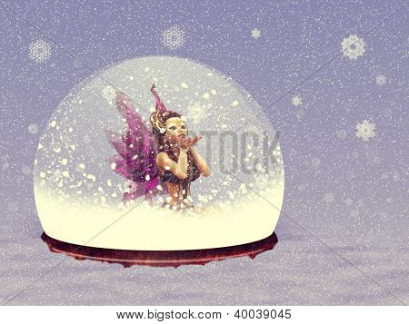 Snow Globe With Fairy