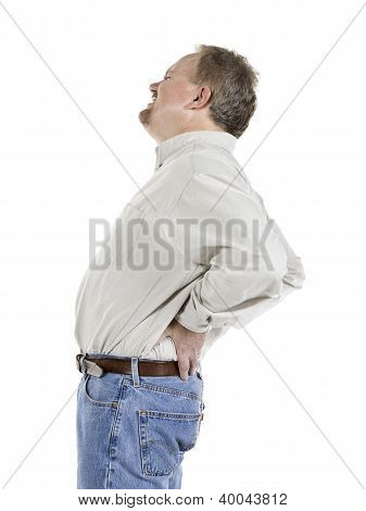 Old Man With Aching Back