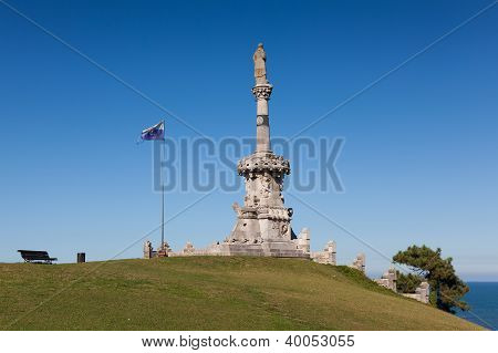 Monument To Marquis Of Comillas, Comillas, Cantabria, Spain