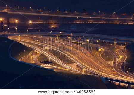 Motorway, Portugalete, Bizkaia, Basque Country, Spain