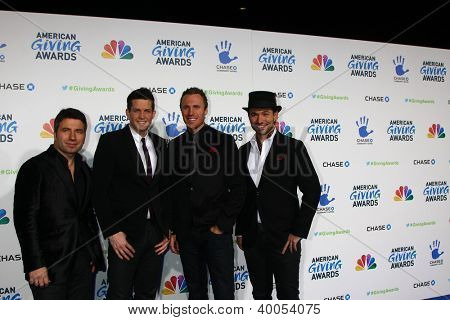 LOS ANGELES - DEC 7:  The Tenors arrives to the 2012 American Giving Awards at Pasadena Civic Center on December 7, 2012 in Pasadena, CA