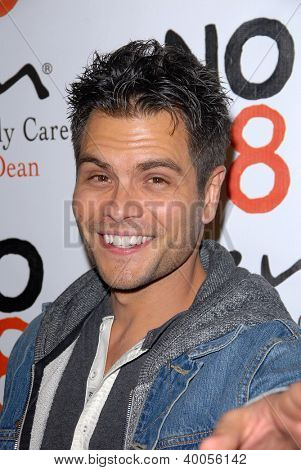 LOS ANGELES - DEC 12:  Erik Valdez arrives to the NOH8 4th Anniversary Party at Avalon on December 12, 2012 in Los Angeles, CA