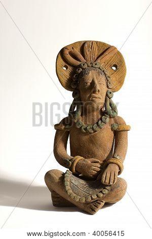 Terracotta Mayan Statue