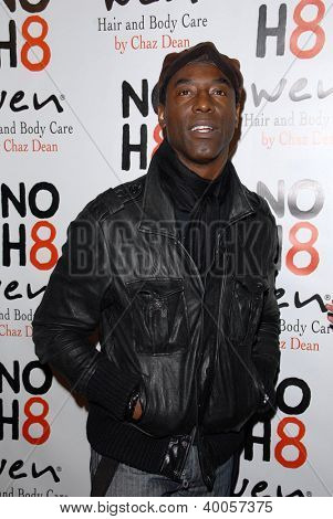 LOS ANGELES - DEC 12:  Isaiah Washington arrives to the NOH8 4th Anniversary Party at Avalon on December 12, 2012 in Los Angeles, CA