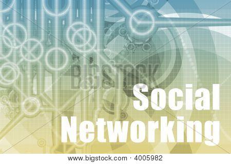 soziale Vernetzung abstrakt