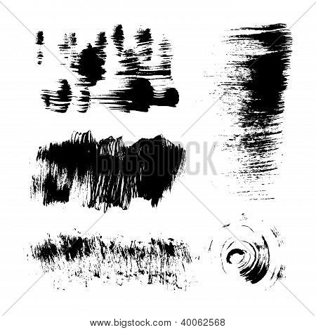 Hand-drawing texture stiff brush strokes