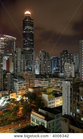 Mong Kok District By Night