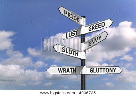 Dealdy siete pecados poste indicador