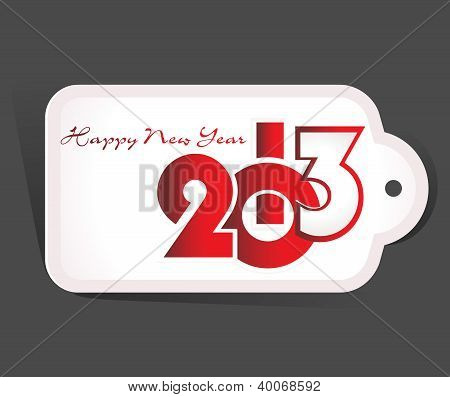 New Year 2013 date label, eps10