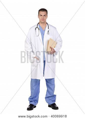 Doctor With Clipboard And Stethoscope