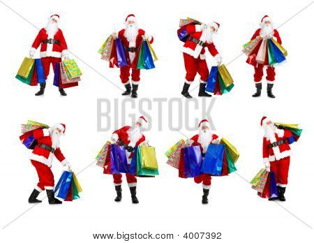 Shopping Christmas Santa