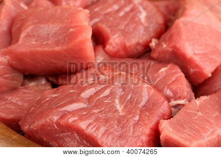 Raw beef meat close up