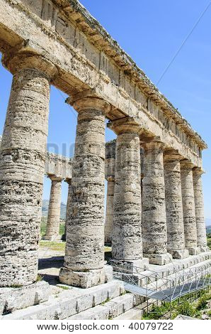 Classic Greek (doric) Temple At Segesta, Sicily, Italy