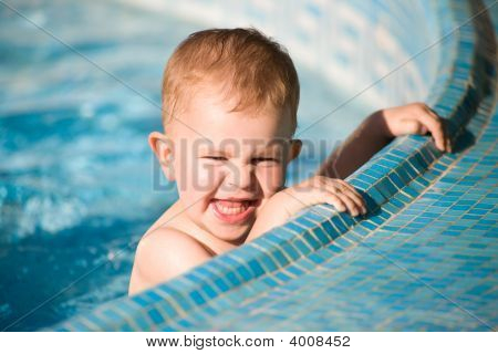 Baby Boy In Pool