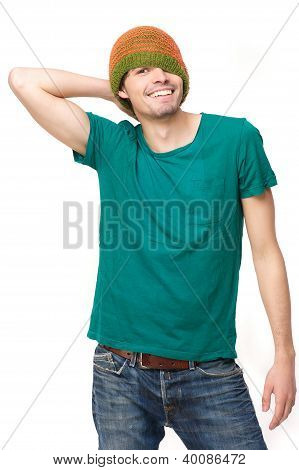 Casual Smiling Man Isolated