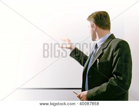 man showing