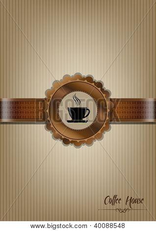 Brown Coffee House Menu Design