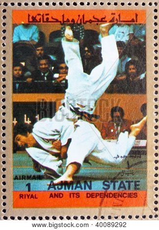 Postage Stamp Ajman 1973 Judo, Olympic Sports