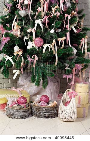 Christmas Gifts Under The Fir tree