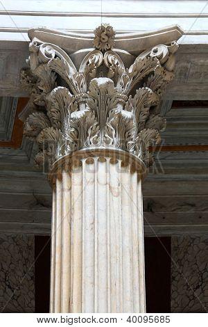 roman columns close up - Roma Italy