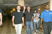 SAN DIEGO, CA - JULY 13: Andrew Lincoln and Greg Nicotero arrives at the 2012 Comic Con convention p