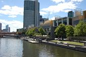 South Bank And Crown Yarra River Melbourne
