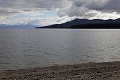 foto of tierra  - Lake fagnano from the beach Tierra del fuego - JPG
