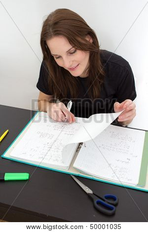 Woman Studying