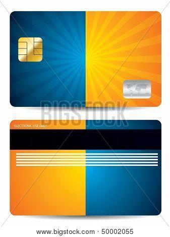 Burst Credit Card Design