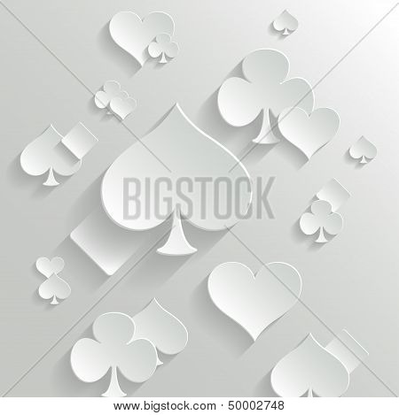 Abstract Background With Playing Cards Elements