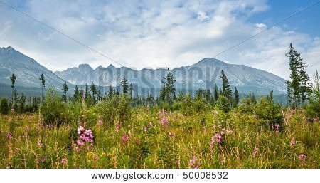 Mountains In National Park High Tatra. Slovakia