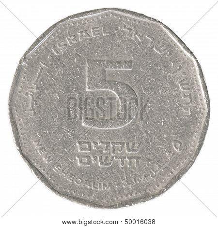 5 Israeli New Sheqel Coin