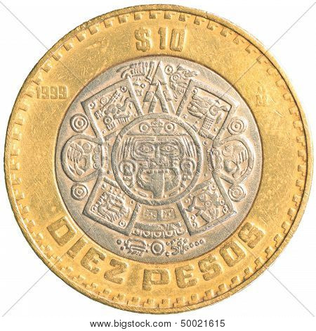 Ten Mexican Peso Coin