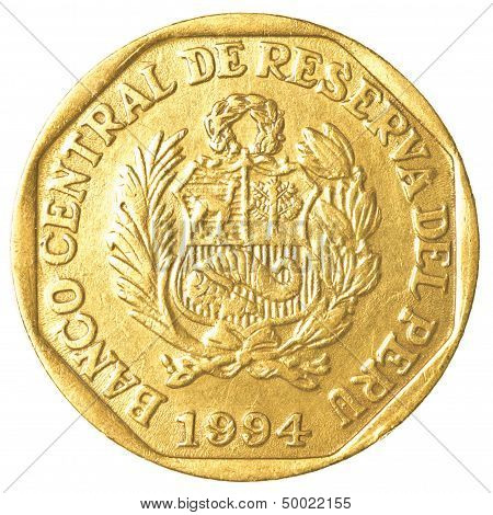 20 Peruvian Nuevo Sol Centimos Coin