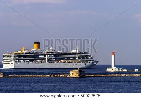 Cruise Ship Costa Deliziosa Came Into The Port Of Odessa