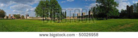 Panorama Of Smederevo Fortress, Serbia