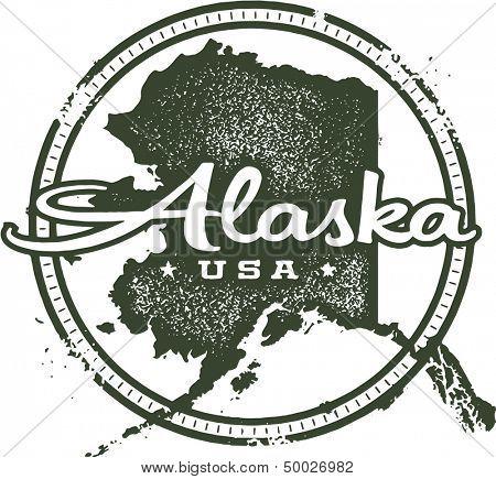 Alaska USA State Stamp