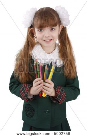 Girl With Color Pencils