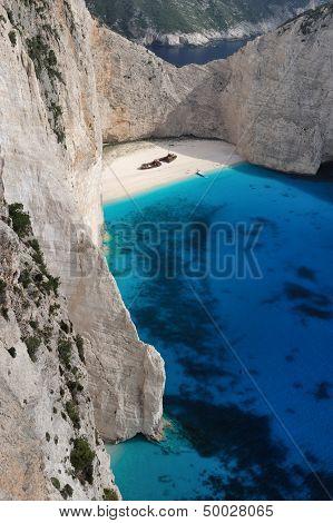 Smugglers Wreck At A Greek Beach