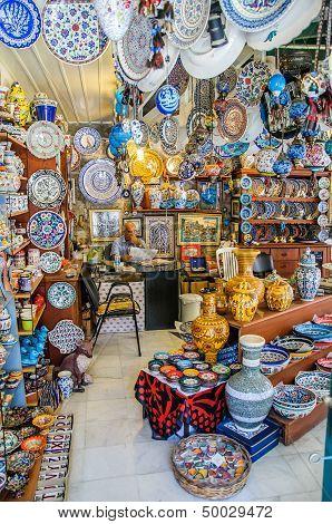 Bazaar Shops In Turkey