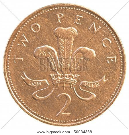 2 British Pennies Coin