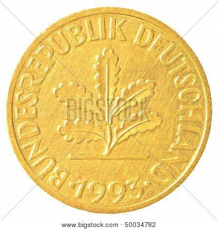 10 German Mark Pfennig Coin