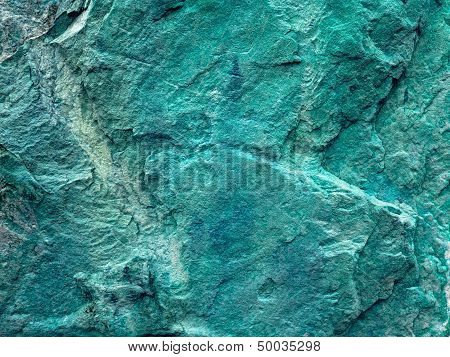 Texture Of Green Grunge Rock