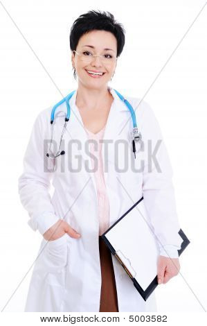 Happy Mature Female Doctor