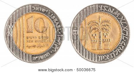 10 Israeli New Sheqel Coin