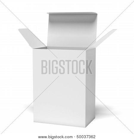 White opened box