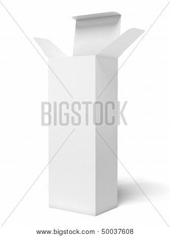 white tall box
