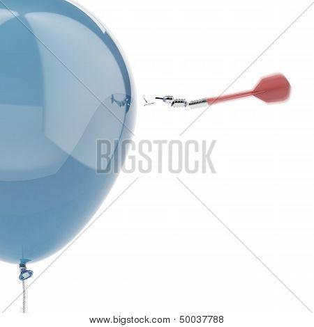 Strong balloon with broken dart